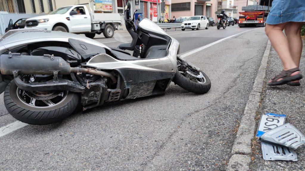 recupero moto, incidente